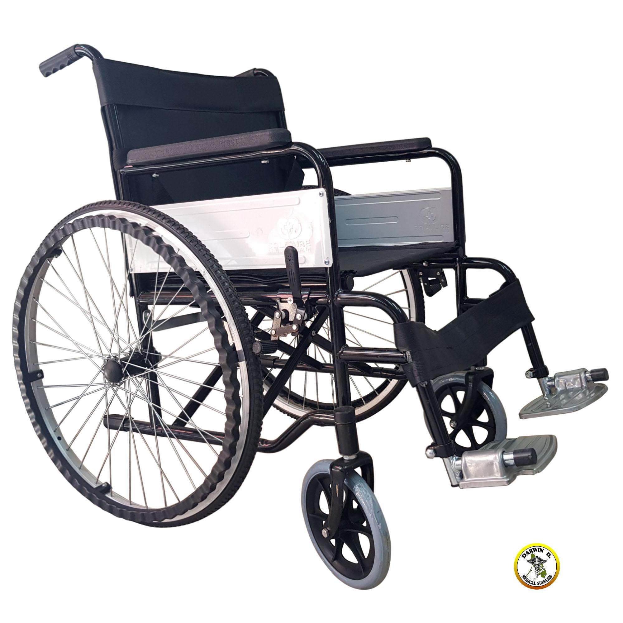 the best attitude eb725 0121c FOLDABLE STANDARD WHEELCHAIR BLACK (Heavy Duty)