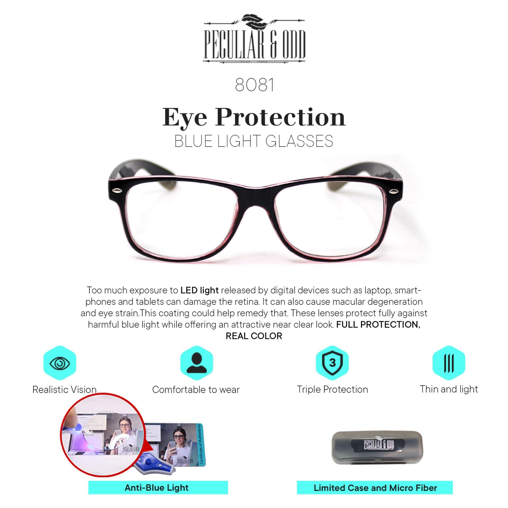 af98783d3cef Peculiar Square Anti Radiation Computer Optical Replaceable for  Prescription Eyewear / Eyeglass- Peculiar and Odd