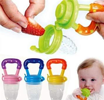 Tickle Baby Pacifier Fresh Food Fruit Nibbler Feeder Nipple Feeder(color Is Vary) By Tickle Me Not.