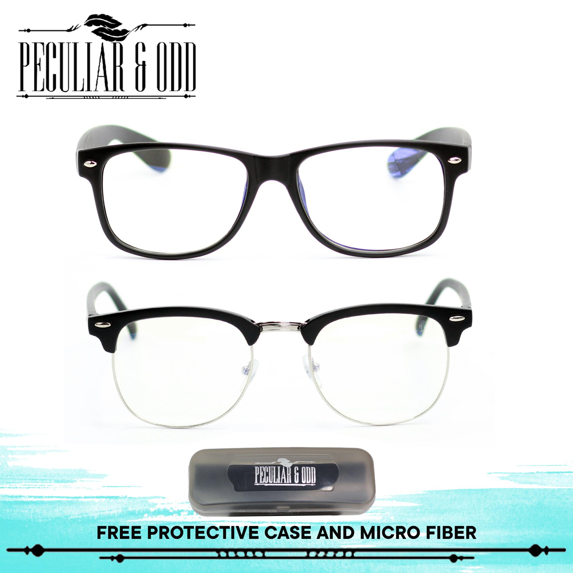 3ed3fece2bde Peculiar Set of 2 8081 and 1365 Unisex Computer Eyeglasses Anti Radiation    Gaming   Gadget