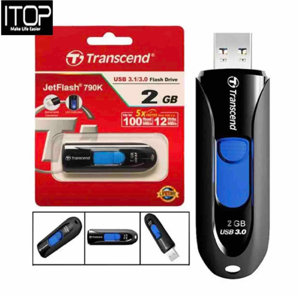 Transcend Jet flash 790 usb 3.0 flash drive 2GB