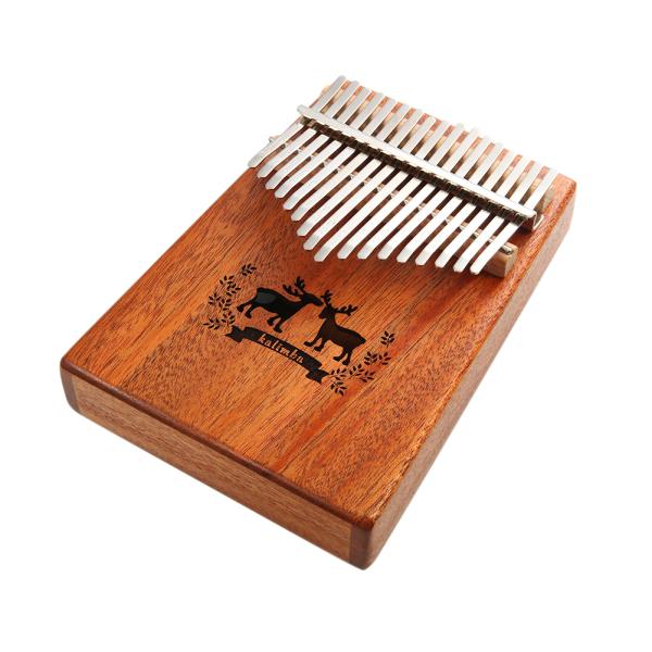 Đàn kalimba full phụ kiện Đàn kalimba giá rẻ Kalimba gỗ Đàn kalimba 17 phím đàn kalimba 17 phím đàn piano gỗ gụ bộ đàn Piano cơ thể đàn hươu họa tiết nhạc cụ gỗ đặc mbira