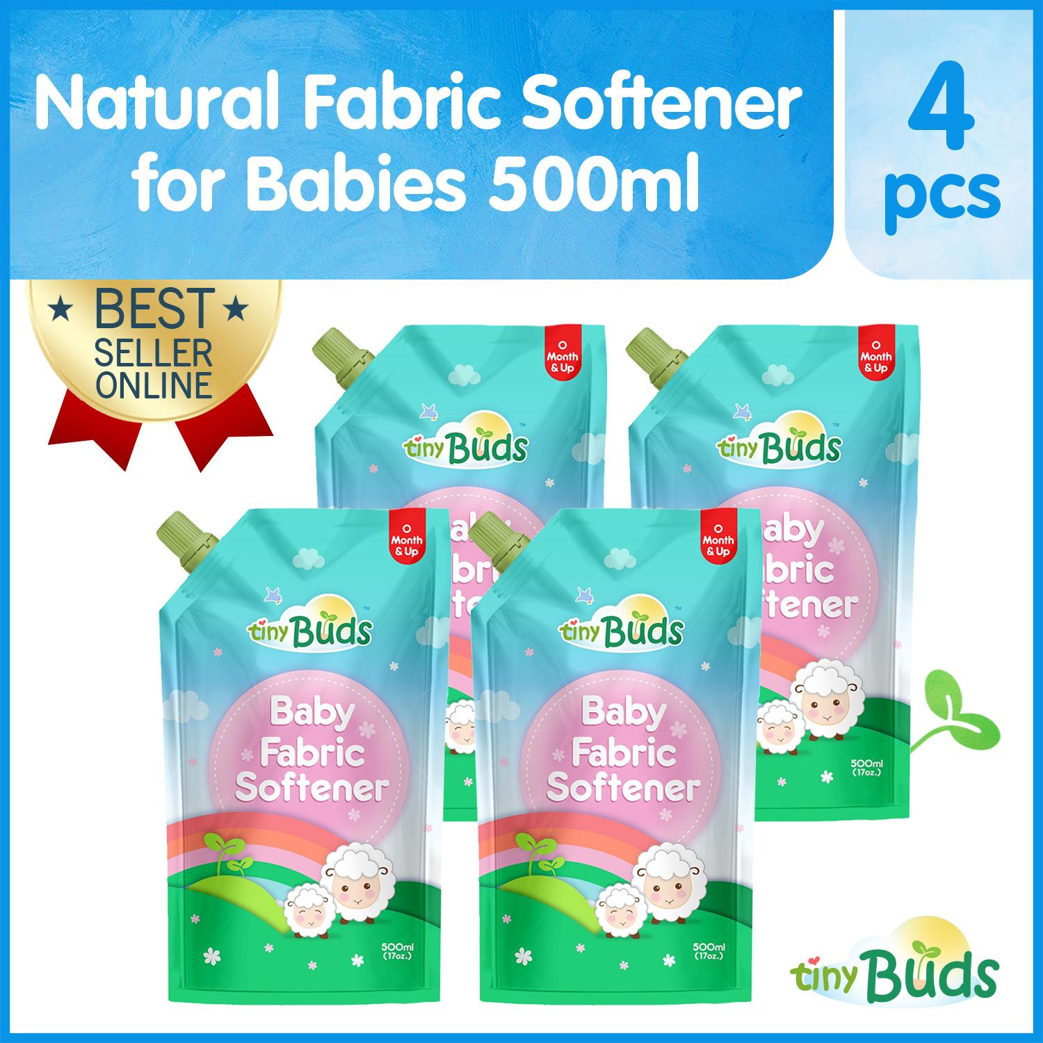 Tiny Buds Natural Fabric Softener 500ml Set Of 4 By Tiny Buds Baby Naturals.