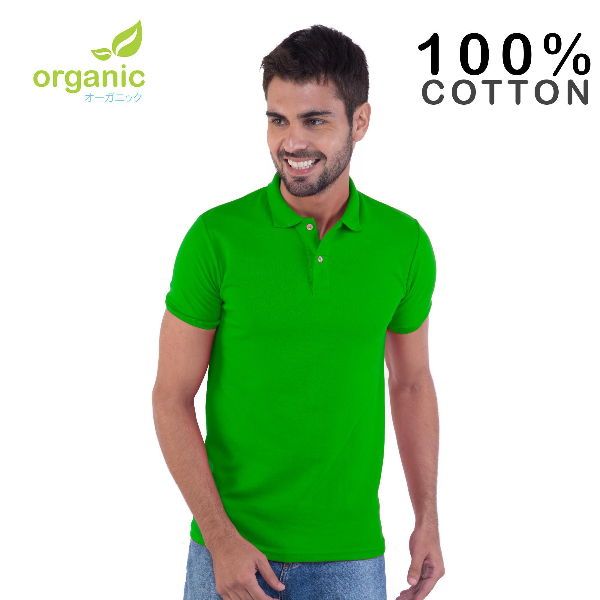 39e46950 Organic Mens Pique Polo Shirt (Apple Green) Tees t shirt tshirt shirts  tshirts tee tops top for men
