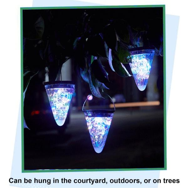 (new2021)Garden Lamp Solar Lanterns Outdoor Hanging Lights Decorative Lamps Energy Saving Holiday Star