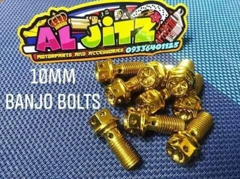 Heng Banjo Bolts Gold (1pc) By Jitz Motorcycle Shop.