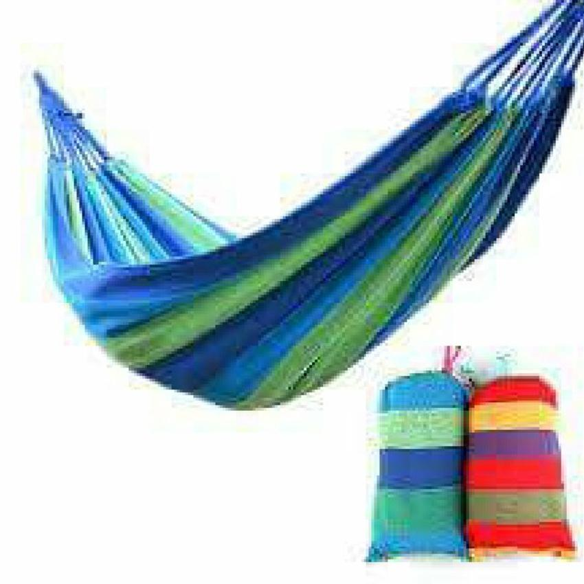 Portable Cotton Rope Outdoor Hammock Duyan (color May Vary) By Syrel&kursten.