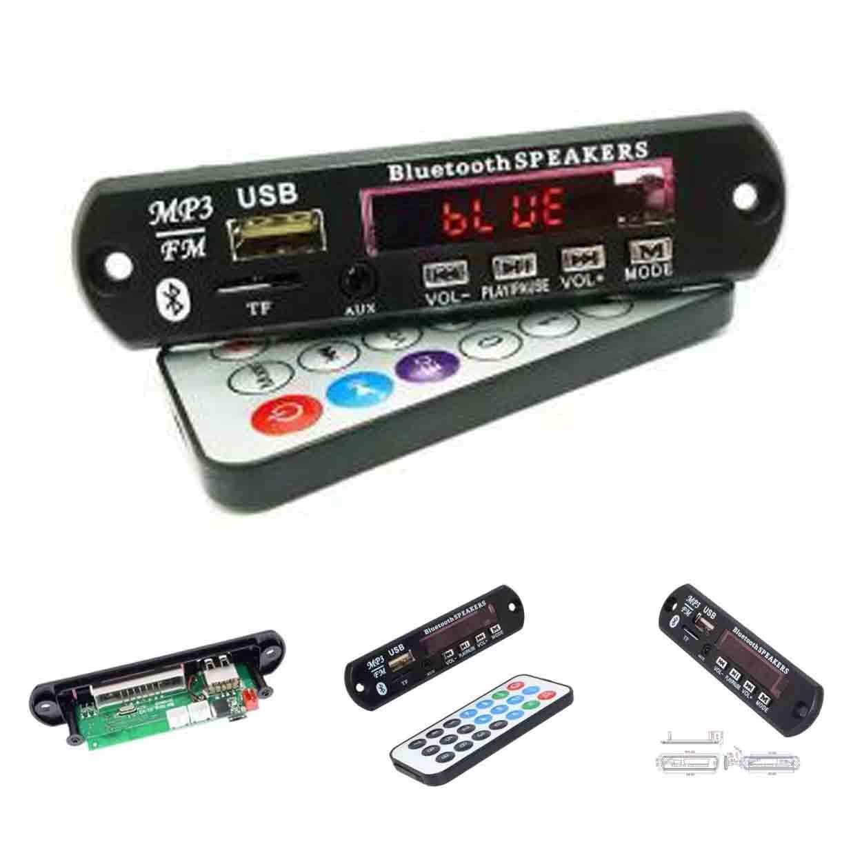 12V Wireless Bluetooth MP3 Decoding Board WAV+WMA+MP3 Micro USB/SD Card