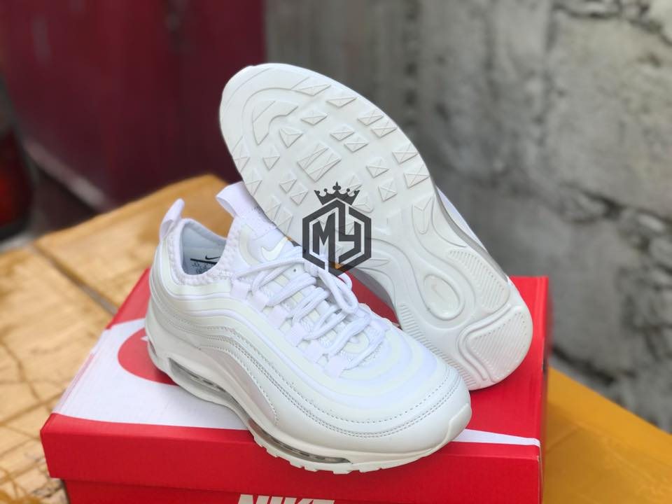 Nike Airmax 97 Triple White Womens Oem Authentic Quality Lazada Ph