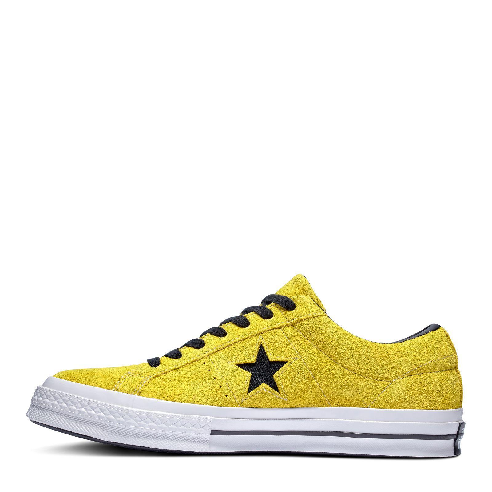 CONVERSE ONE STAR DARK STAR VINTAGE SUEDE BOLD CITRONBLACKWHITE 812819 163245C