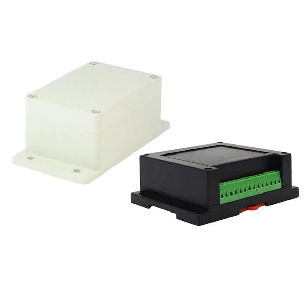1 Pcs 100Mm X 68Mm X 50Mm Waterproof Plastic Enclosure Case DIY Junction Box & 1 Pcs Instrument Din Rail Abs Plastic Electronics Diy Enclosures for Pcb Design Case +Clips +Screws