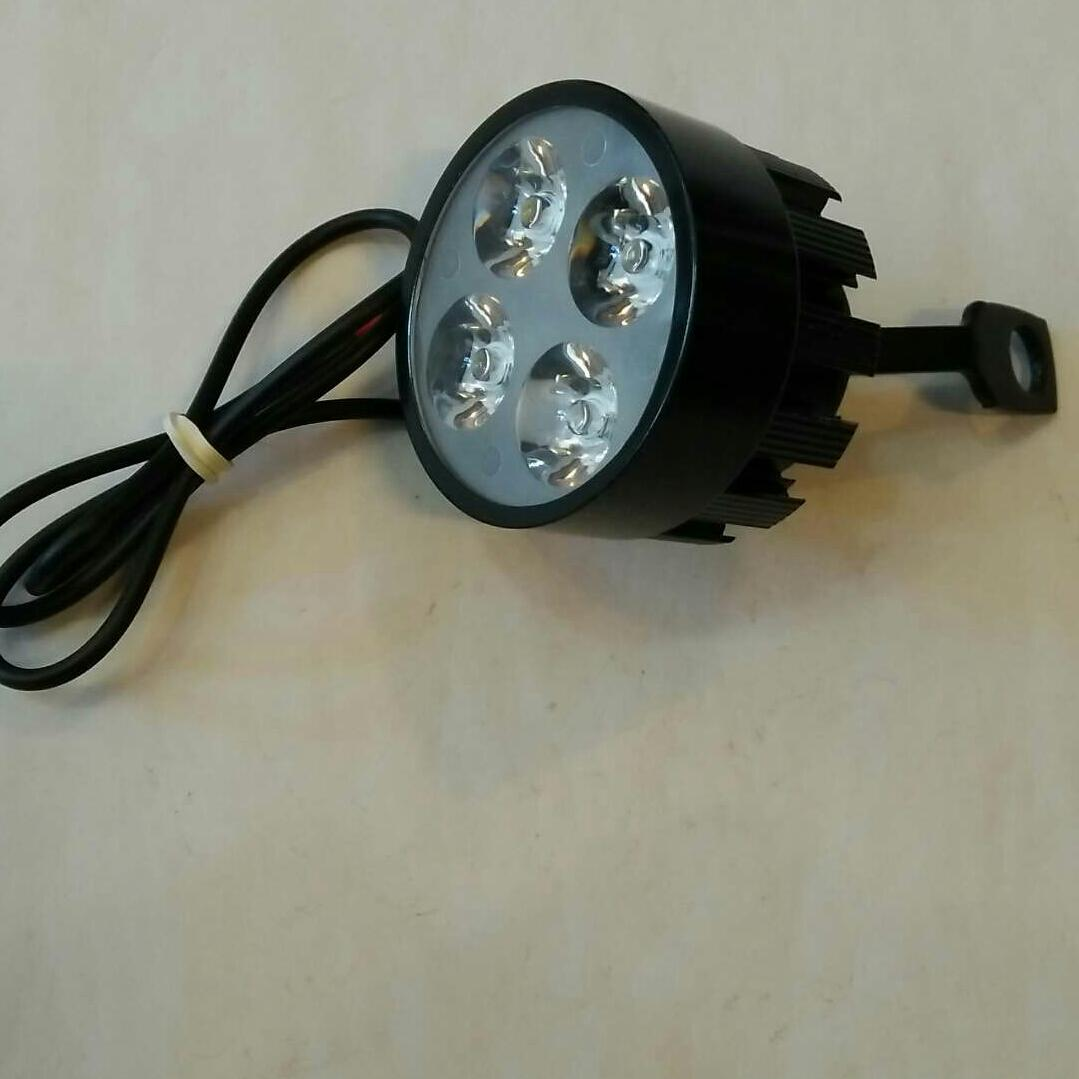 Ebike External Headlight,12-80volts, 4 Super Bright Led Headlight, Waterproof By Aop Electronics Center.