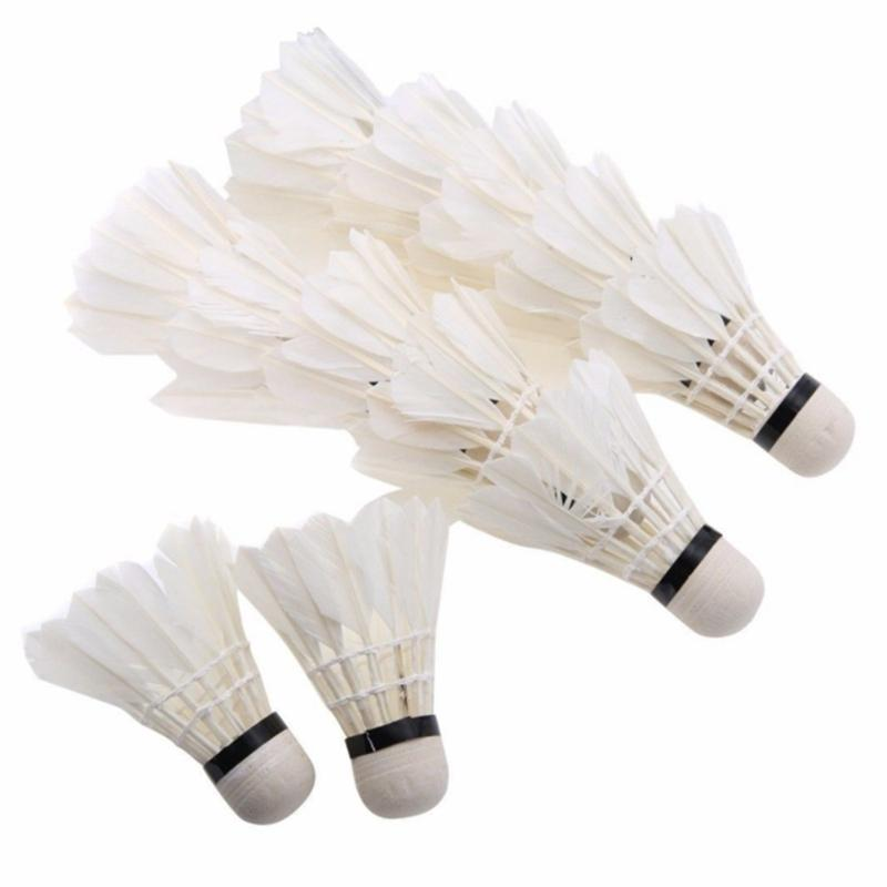 Bảng giá 12Pcs Feather Shuttlecocks Stable & Durable Sports Training Badminton Balls for Indoor Outdoor Game
