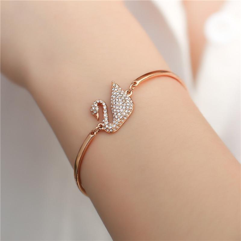 7dd61611115 [Mid-Year Festival] Omiga High Quality Never Fade 14K-gold Swan bracelet