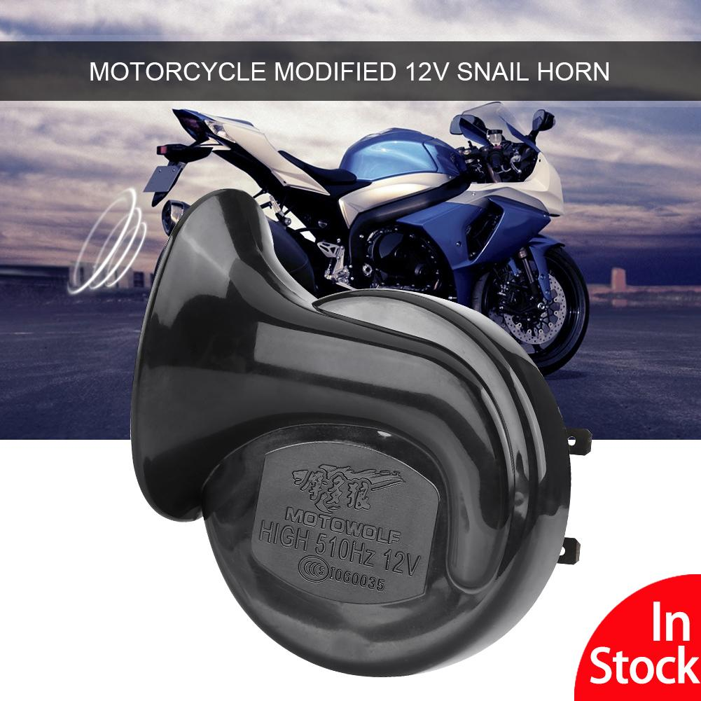 【shipping in 24 hours】universal 12v 110db 510hz motorcycle electric snail  horn loud voice
