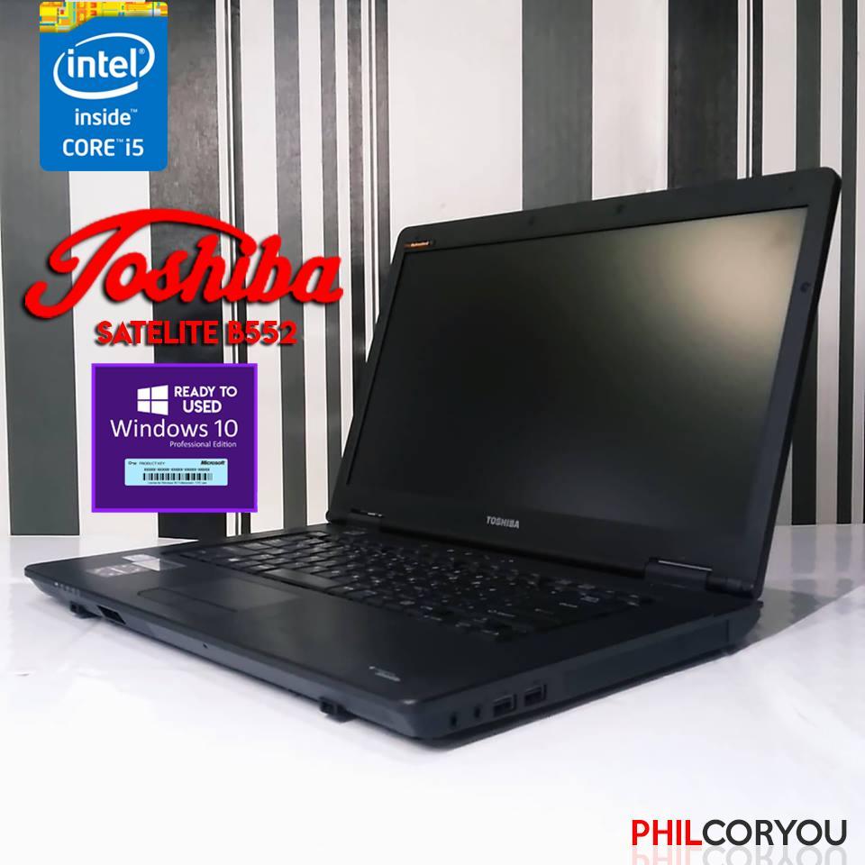 Toshiba core i5-3320 4GB 320GB With WINDOWS 10 (LAPTOP Model B552)