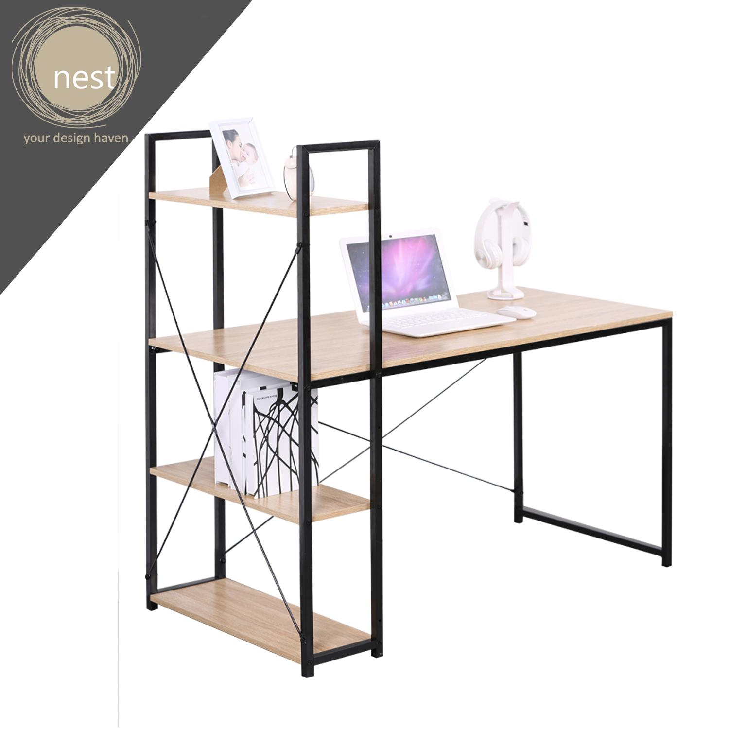 nest design lab working desk with 4 tier shelves for filing/organizing-best  gift for wedding/anniversary gift/birthday gift