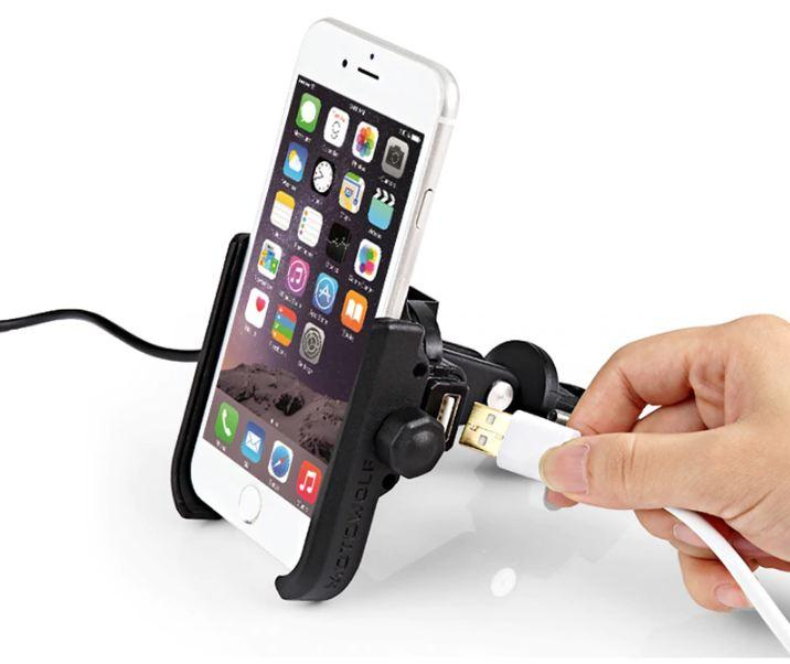 Motowolf Cellphone Holder With Charger By Motorworld.