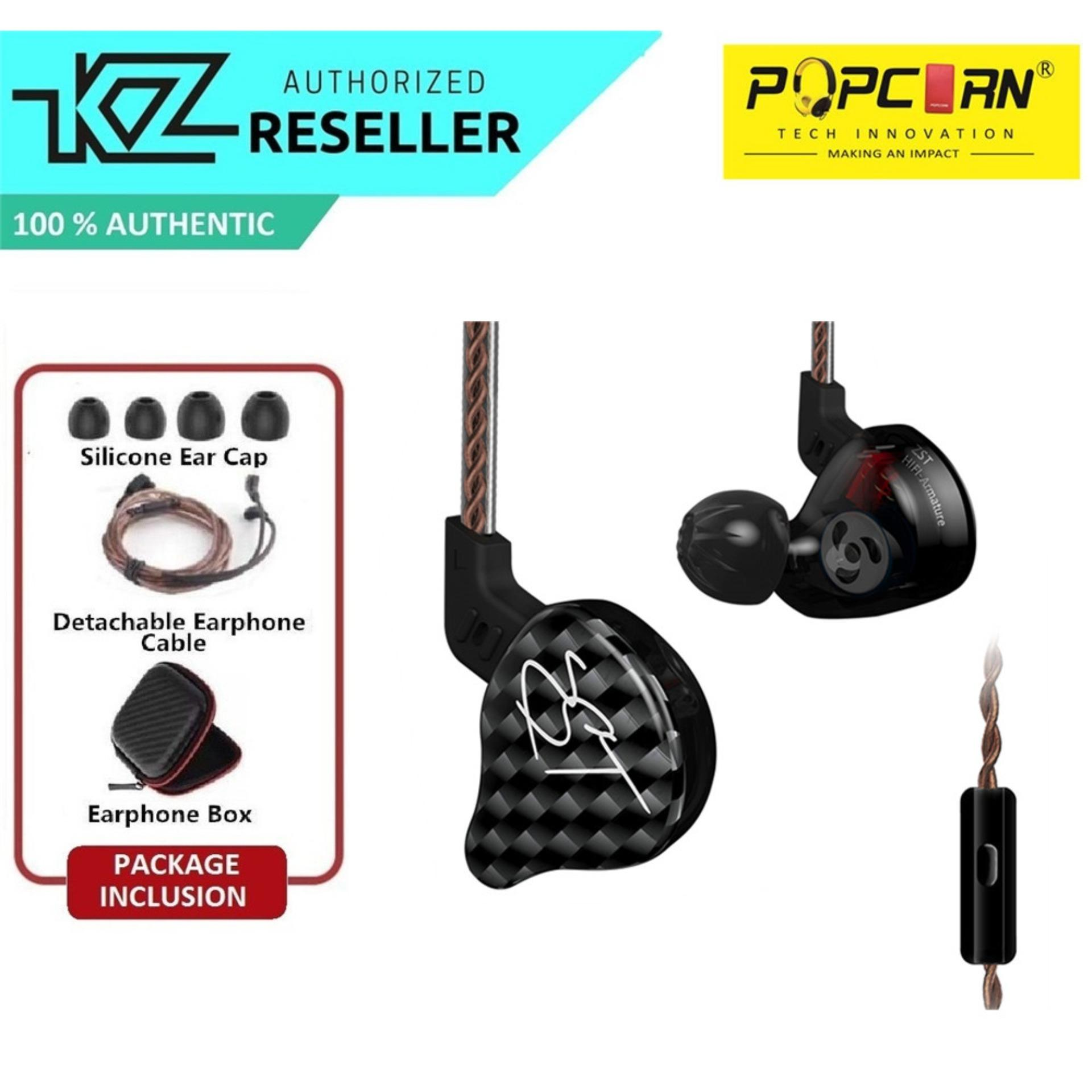 KZ ZST Super Bass Sport Computer Gaming Dynamic Hybrid Dual Driver In-Ear Headset Headphone
