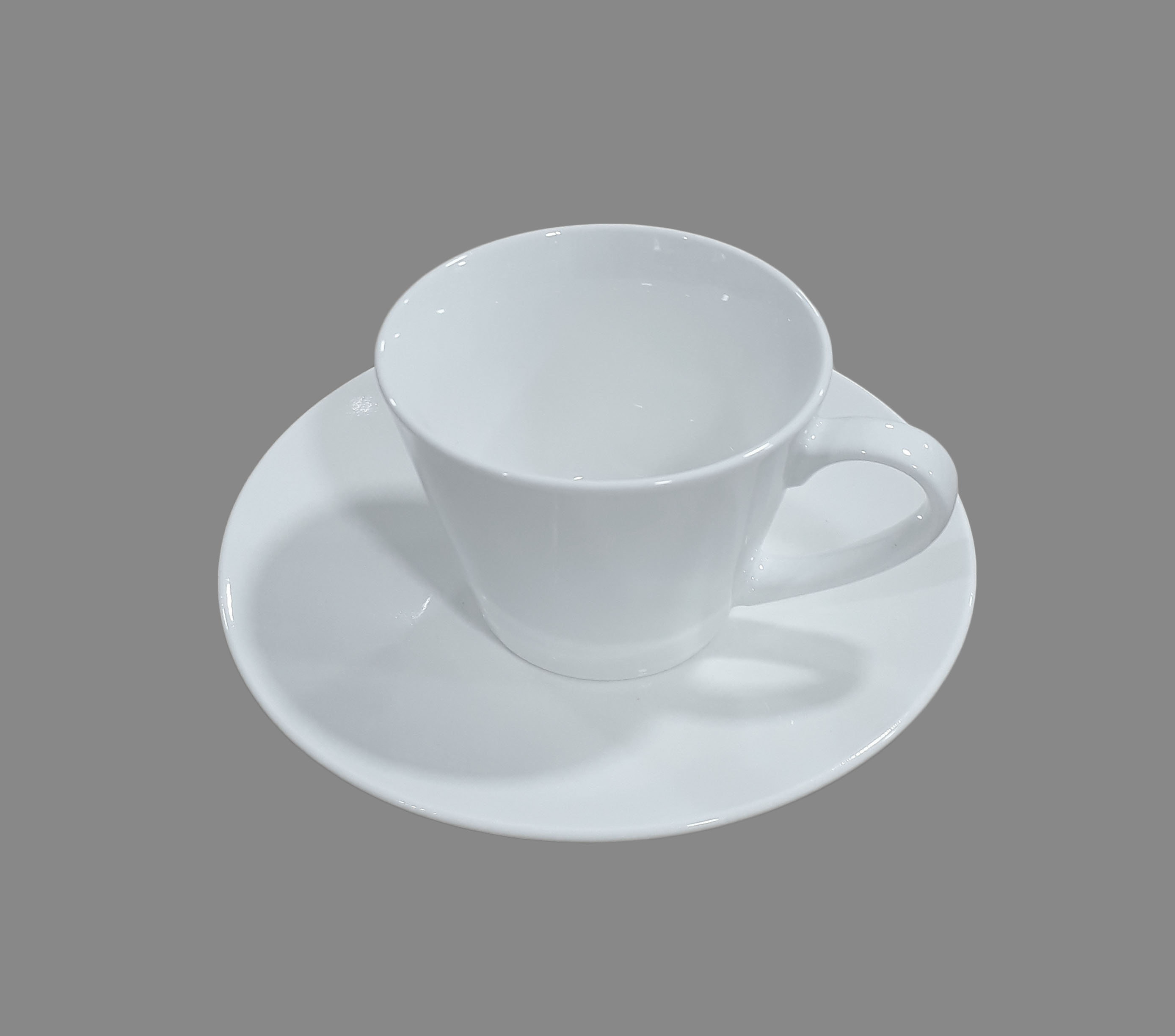 Glass Cup And Saucer Set Elegant Florence Plain White Ceramic Glass Cappuccino Latte Cup Lazada Ph