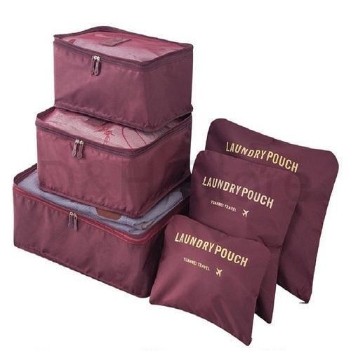 8a6da5bcfa8a D&H Store 6 in1 Travel Luggage Bag Clothes Organizer Travel Bag 6 In 1