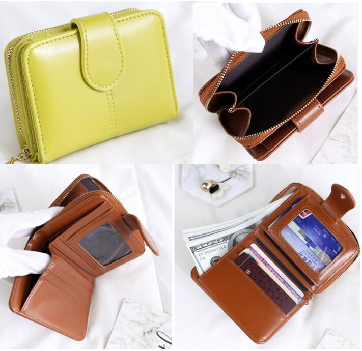 1431edc2861 Korean Short Wallet Leather Wallet Card Holder Woman Wallet Hand Bag Card  Organizer Smart Wallet Fashion