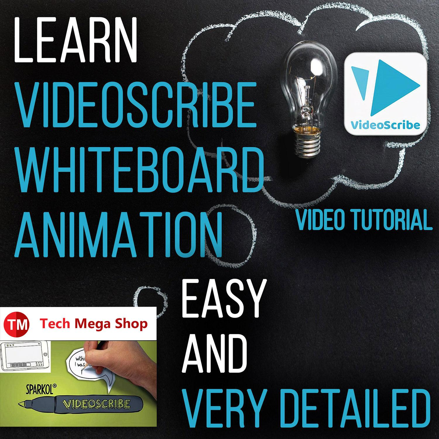 Learn Videoscribe / Easy and very detailed video tutorial,complete  course(become expert in professional whiteboard animation editing and more)