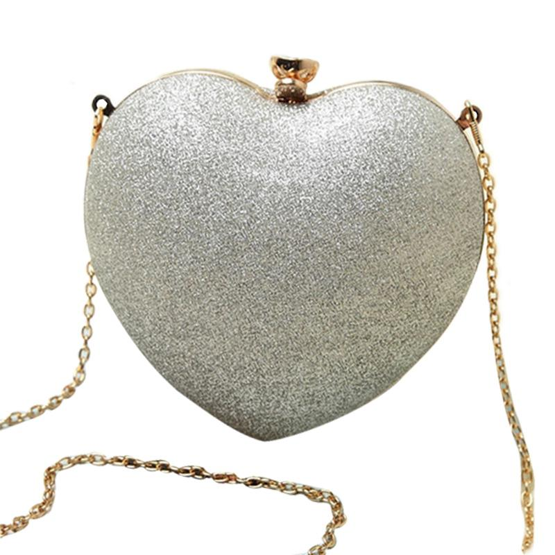 Women Heart Pearl Bag Fashion Evening Bag Part Time Must Have Bag Best Chain Shoulder Messenger Bag Mobile Phone Case