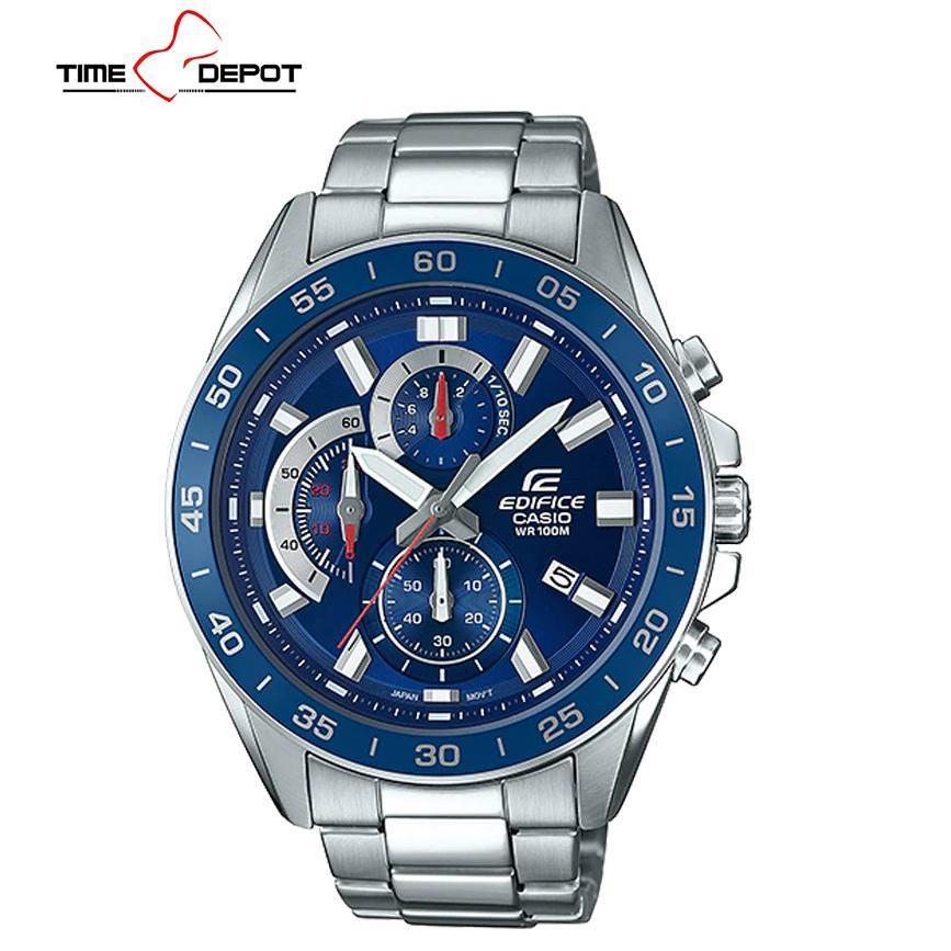 e8eaa299d2b6 Casio Edifice Men s Silver Stainless Steel Strap Watch EFV-550D-2AVUDF