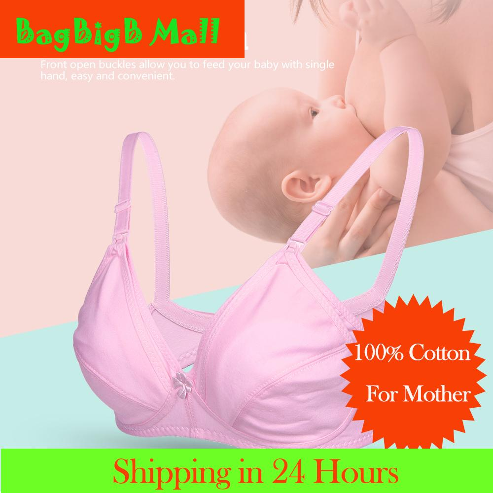 a08d0e76b28 【Lowest Price Across Lazada】Front Open Maternity Breastfeeding Bra Pregnant  Women Cotton Nursing Bras