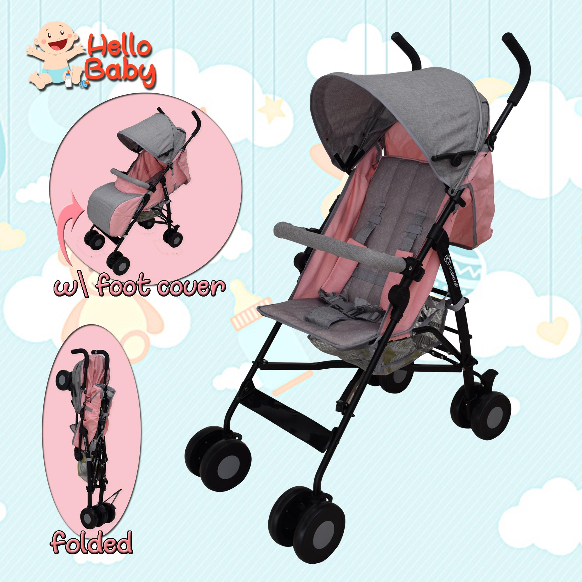 Hello Baby 508/2 Kinderkraft Baby Stroller Portable Comfortable Folding Infant Umbrella Stroller By Hello Baby.