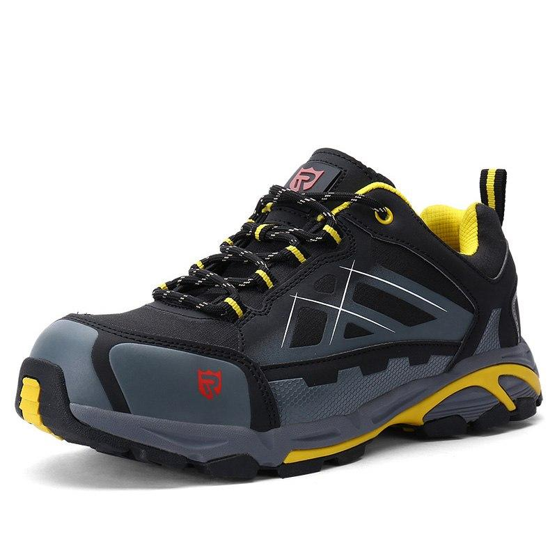 Para estrenar ffdbe 68a91 LARNMERN Mens Work Boots Steel Toe Safety Shoes S1P Outdoor Safety Sneakers  SRC Non-slip Anti-static Puncture Proof Camel