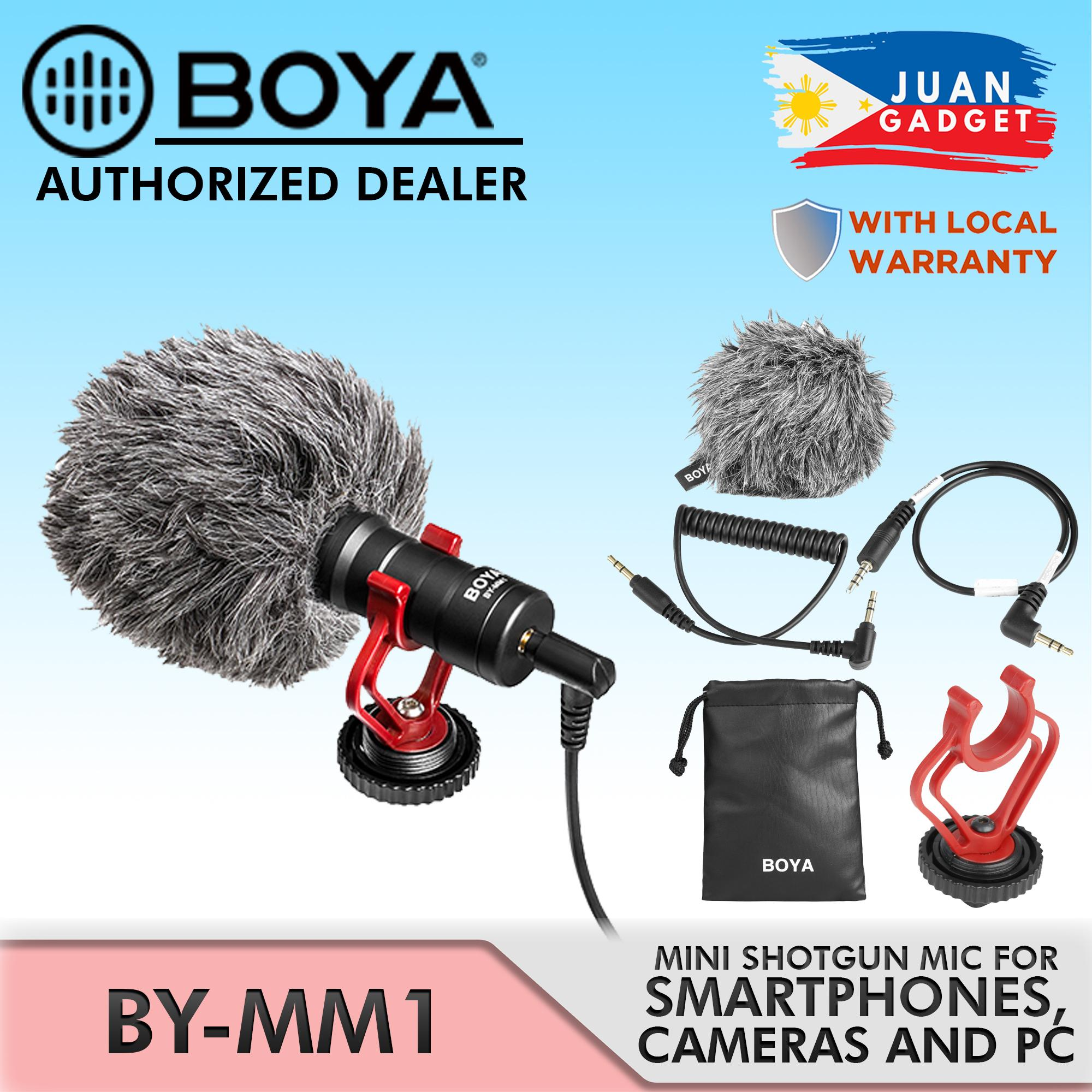 BOYA BY-MM1 MM1 Compact On-Camera Video Microphone Youtube Vlogging Recording Mic