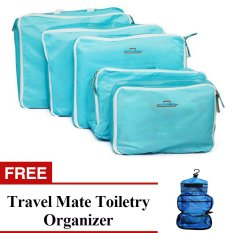 d2cde5d3b626 Philippines. 5-in-1 Storage Bag Organizer (Blue) with Free Travel Mate  Toiletry