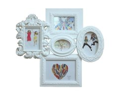 5 Ornate White Multi Photo Frame Design Collage Picture Frame