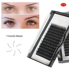 1 Box 3D Silk Individual False Eyelashes Extension Mink False Lashes 11mm - intl