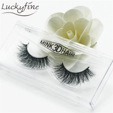 1 Pairs 3D Soft Design 100% Real Mink False Eyelashes Cross Messy Eye Lashes - intl Philippines
