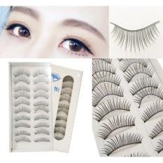 10 Pairs Natural Looking False Eyelashes #001 Philippines