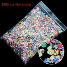 Jettingbuy 1000pcs 3D Fruit Animals Fimo Slice Clay DIY Nail Art Tips Sticker Decoration - intl Philippines