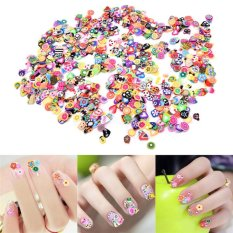 1000x 3D Fruit Animals Fimo Slice Clay DIY Nail Art Tips Sticker Decoration Set Multicolor - intl Philippines
