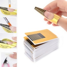 100pcs Extension Sticker Form Guide Nail Art Acrylic UV Gel Builder DIY Tool - intl Philippines