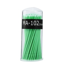 100PCS/Box Micro Disposable Extension Mascara Eyelash Glue Cleaning Stick Green Middle - intl Philippines