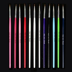 12 pcs Nail Art Design Brush Pen Fine Details Tips Drawing Paint Set - intl Philippines