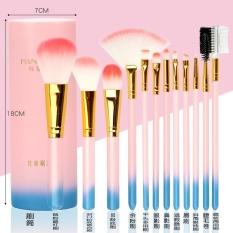 12PCs Professional Makeup Brush Set Tool With Makeup Bag 09 - intl Philippines