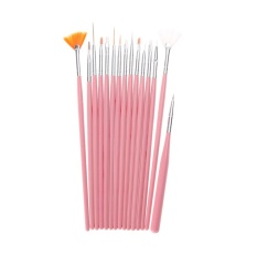 15PCS Design Painting Pen Nail Art Brush Set for Salon Manicure DIY Tools (Pink) - intl Philippines