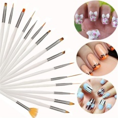 16pcs Nail Brush Brushes Set Nail Polish Gel Art Paint Design Pen Tools Makeup - intl Philippines