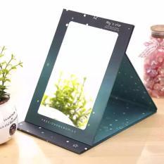 2 pc Creative star portable folding mirror type makeup mirror Philippines