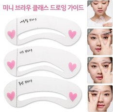 2 Set Eyebrow Stencils Eyebrow Class Card Makeup Tools Accessories,Professional Plastic Eyebrow Stencils Grooming Beauty Perfect - intl Philippines