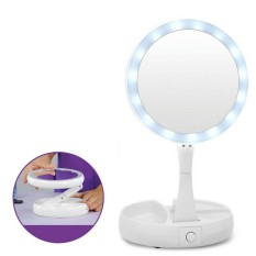 2018 Hot Selling My Fold Away LED Makeup Mirror Professional 1X Vanity Mirror with Lights Health Beauty Adjustable Portable Cosmetics - intl Philippines