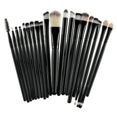 20Pcs Comestic Makeup Brushes Set (Black) Philippines